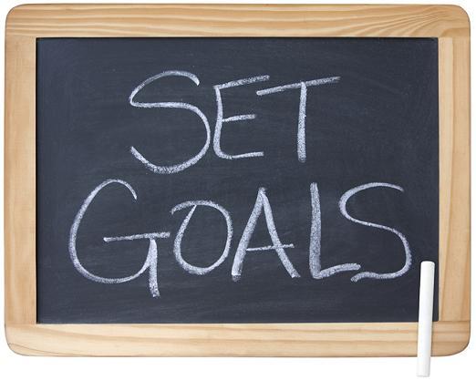 目標を掲げる