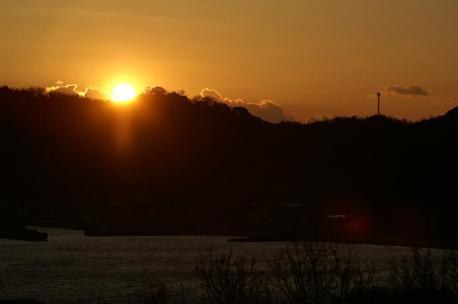 最後の夕陽アップ♪