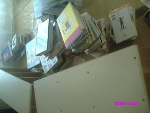 本をすべて出す