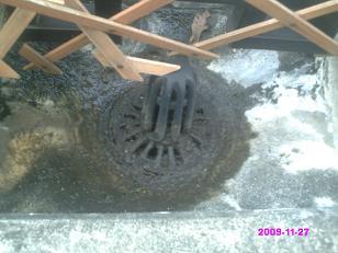 排水溝 掃除後
