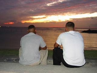夕暮れの沖縄
