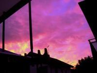 091007台風前の夕日