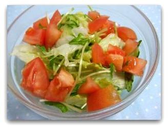 空芯菜の新芽サラダ