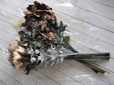届いたお花
