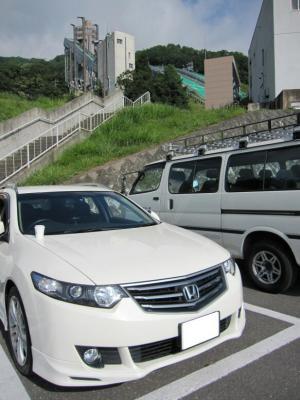 ジャンプ台駐車場