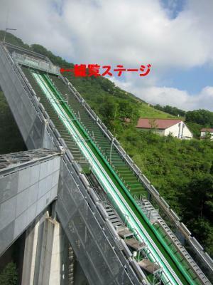 ジャンプ台ラージヒルアプローチ