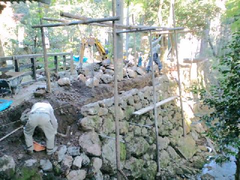 石垣の修復