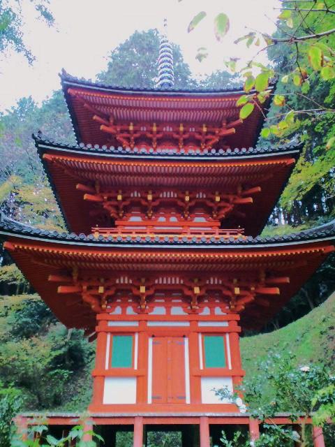 岩船寺の三重塔