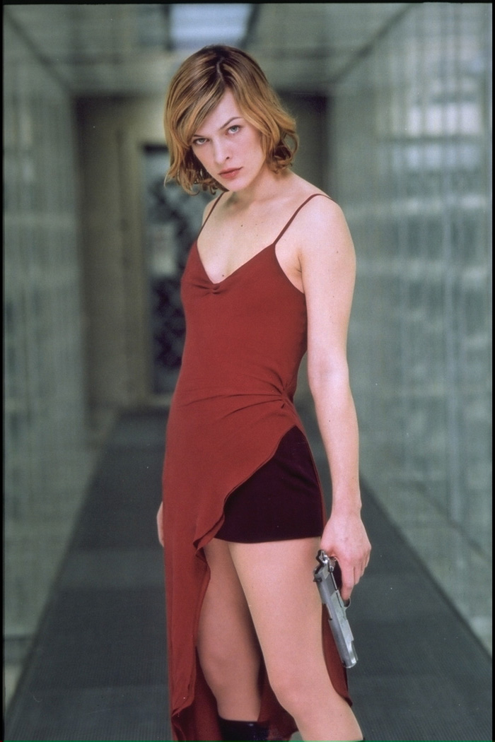 Milla Jovovich Resident Evil Red Dress 2