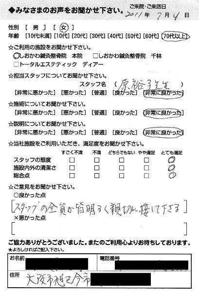 膝の痛みならおまかせください大阪市旭区千林大宮しおかわ鍼灸整骨院です。