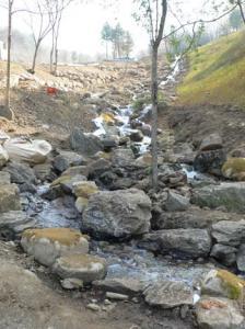 韓国LGホタル再生地滝部分施工前