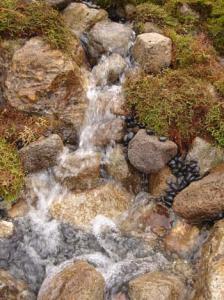 韓国LG中流部分堰と小滝