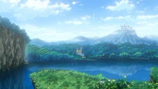 泉と丘の上の古城