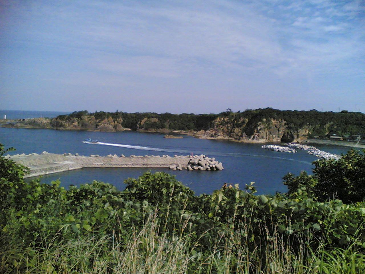 ここが尖閣湾です