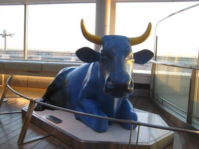 青い牛さん