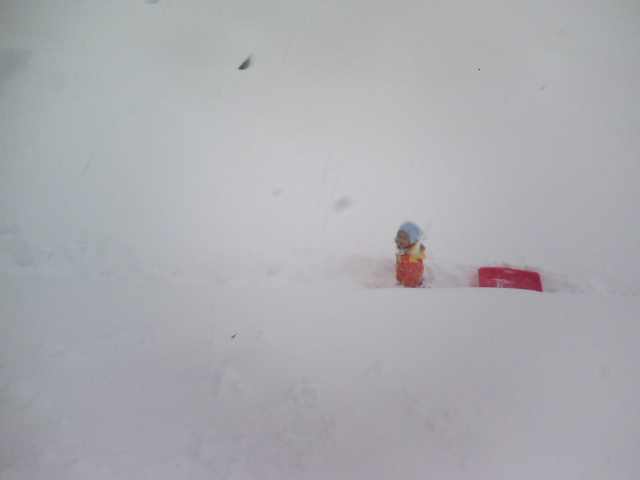 20100206雪の中のnobu