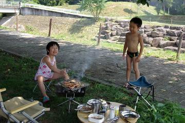 20110717ケヤキの森バーベキューyounobu