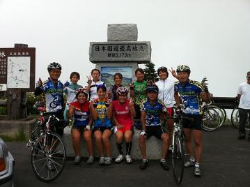 20110813渋峠国士舘トライアスロン部記念写真
