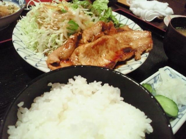 生姜焼き定食@つくば