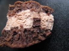 ホットケーキサンドアイスチョコ仕立て