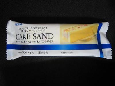 ケーキサンドフルーツ&バニラアイス
