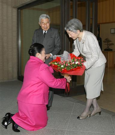 天皇陛下とタイ王族ソムサワリー殿下