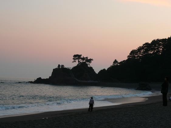 夕焼け桂浜