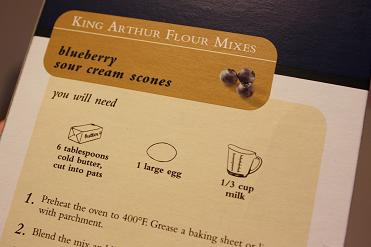 King Arthur Flour, Scone Mix, Blueberry Sour Cream,2
