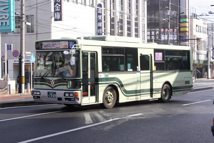 京都市バス 京都200か1969 いすゞPDG-LV234L2