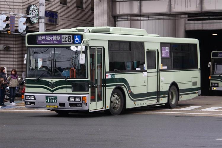 京都市バス 京都200か1972 いすゞPDG-LV234L2