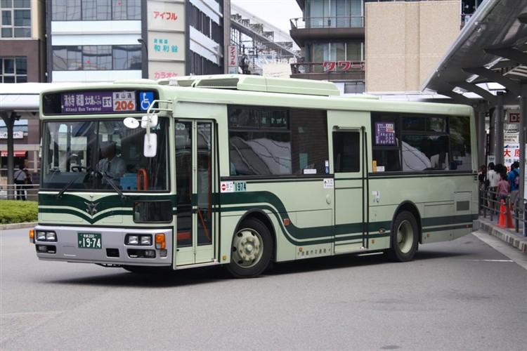 京都市バス 京都200か1974 いすゞPDG-LV234L2