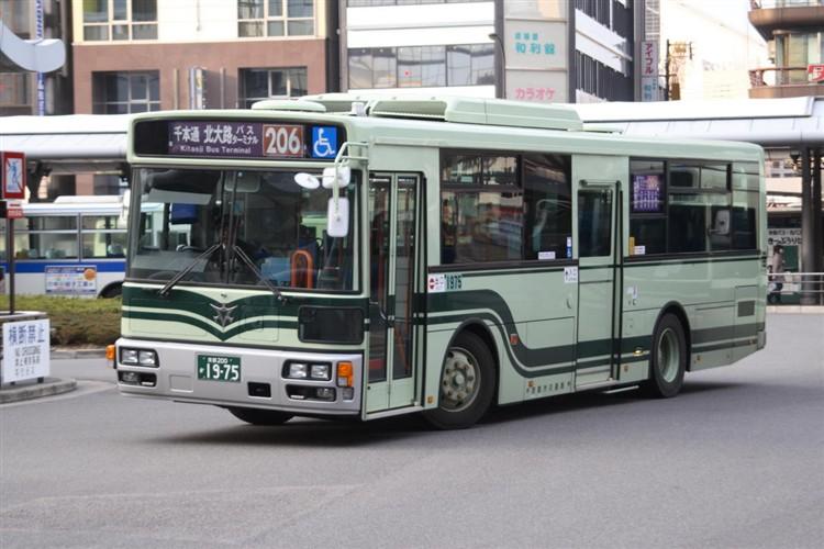 京都市バス 京都200か1975 いすゞPDG-LV234L2