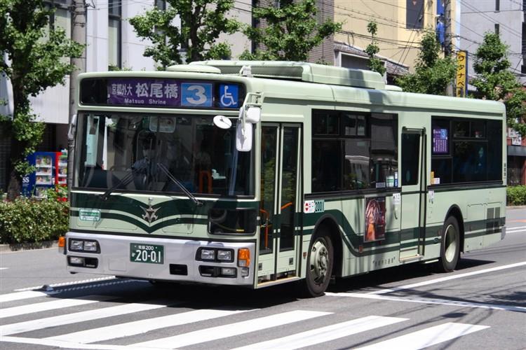 京都市バス 京都200か2001 日デPDG-RA273MAN