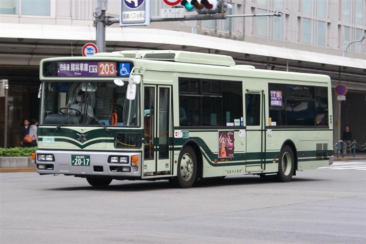京都市バス 京都200か2017 日デPDG-RA273MAN