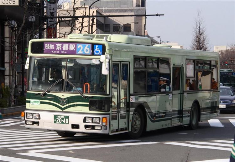 京都市バス 京都200か2040 日デPDG-RA273MAN