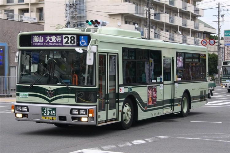 京都市バス 京都200か2045 日デPDG-RA273MAN