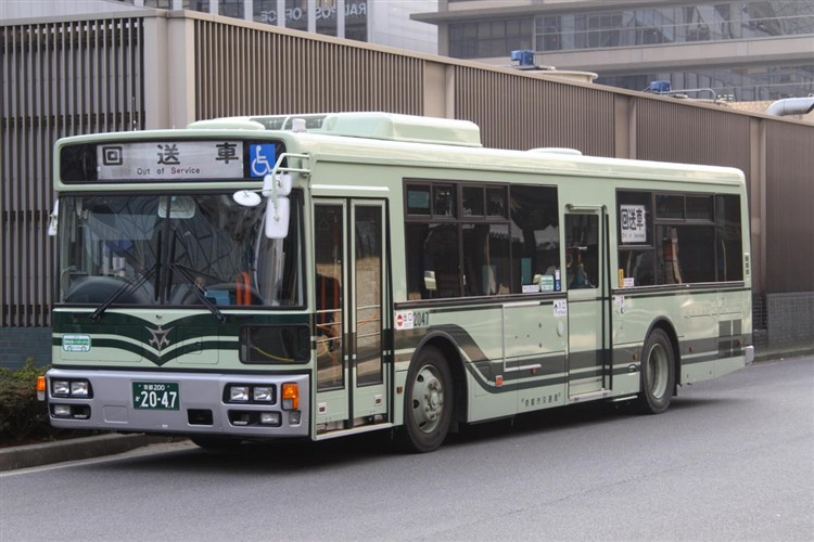 京都市バス 京都200か2047 日デPDG-RA273MAN