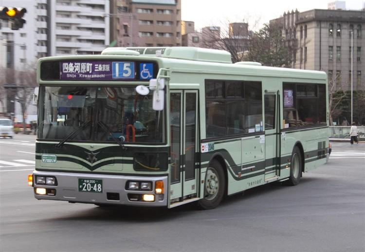 京都市バス 京都200か2048 日デPDG-RA273MAN