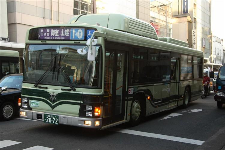京都市バス 京都200か2072 いすゞPDG-LV234N2改(CNG車輌)
