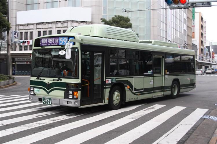 京都市バス 京都200か2073 いすゞPDG-LV234N2改(CNG車輌)