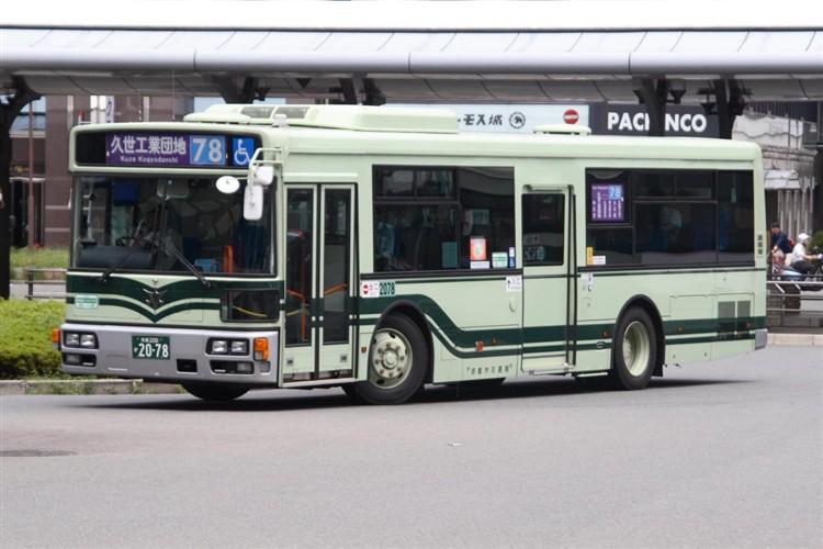 京都市バス 京都200か2078 日デPDG-RA273MAN