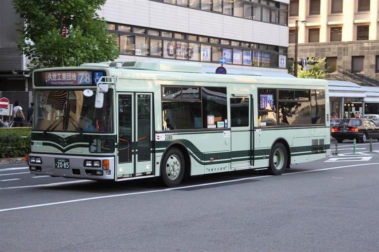 京都市バス 京都200か2085 日デPDG-RA273KAN