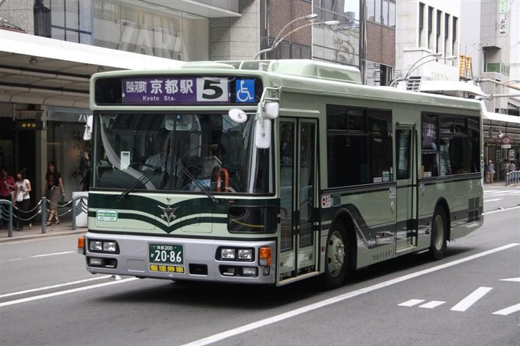 京都市バス 京都200か2086 日デPDG-RA273KAN