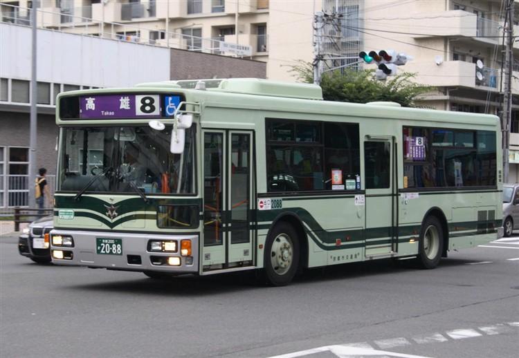 京都市バス 京都200か2088 日デPDG-RA273KAN