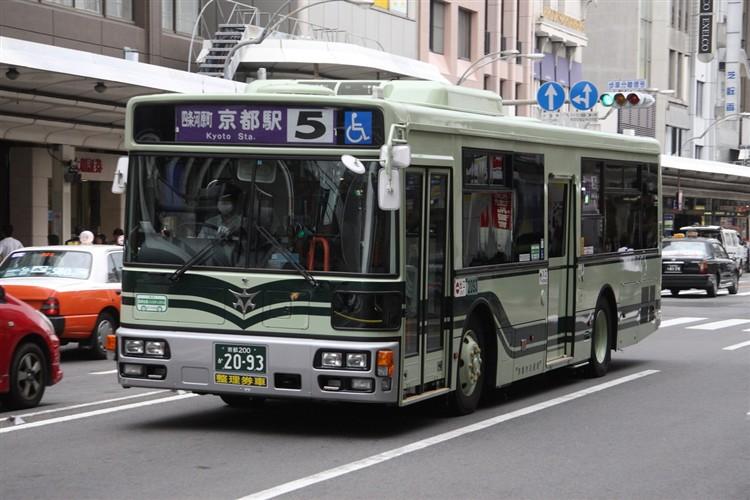 京都市バス 京都200か2093 日デPDG-RA273MAN