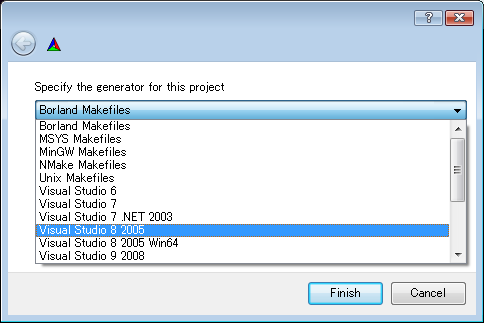 OpenCV2.0ReleaseをCMakeでビルドする