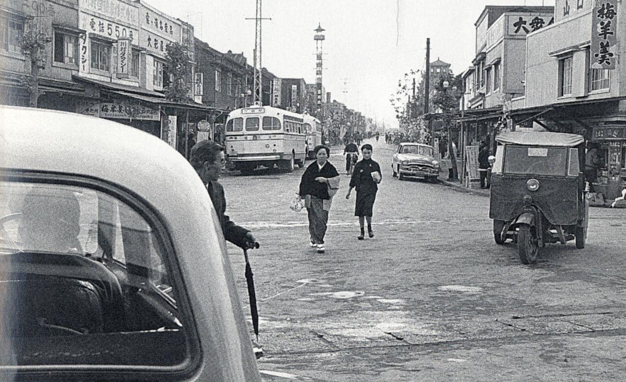 30年代の駅前