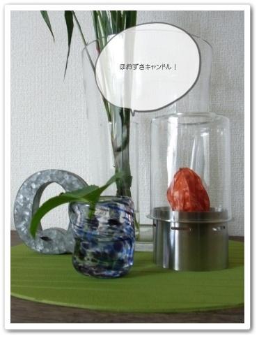 重陽の節供 フラワーアレンジ 秋  ほおすきキャンドル