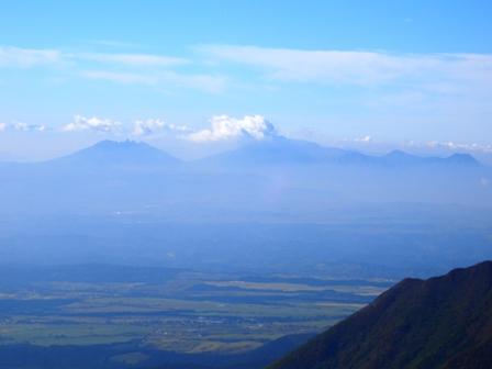 大船山山頂から阿蘇山CIMG0410