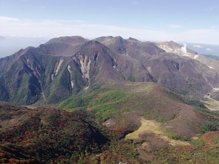 大船山山頂から九重連山P1011050